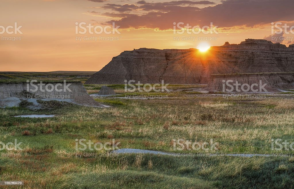Castle Trail Sunrise stock photo