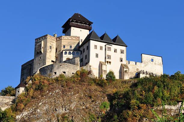 castle Trencin in Slovakia stock photo