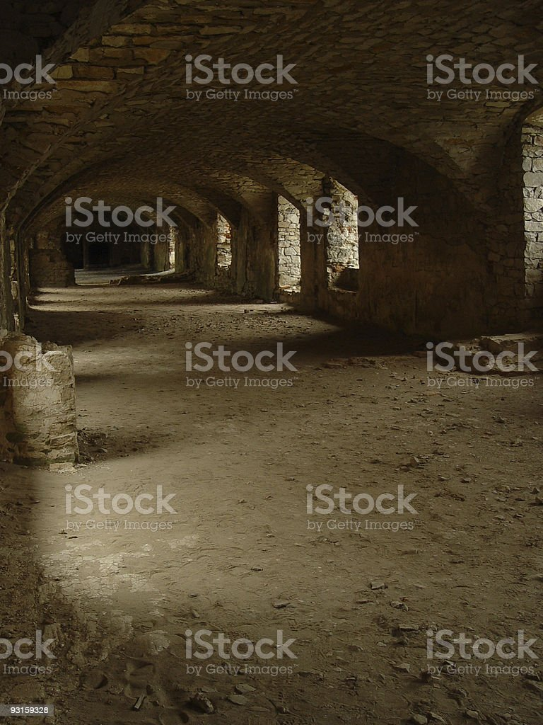 castle tunnel royalty-free stock photo