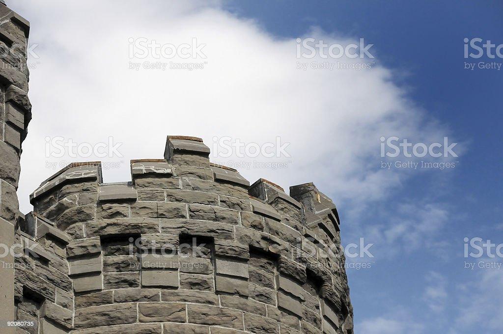 Castle turret royalty-free stock photo