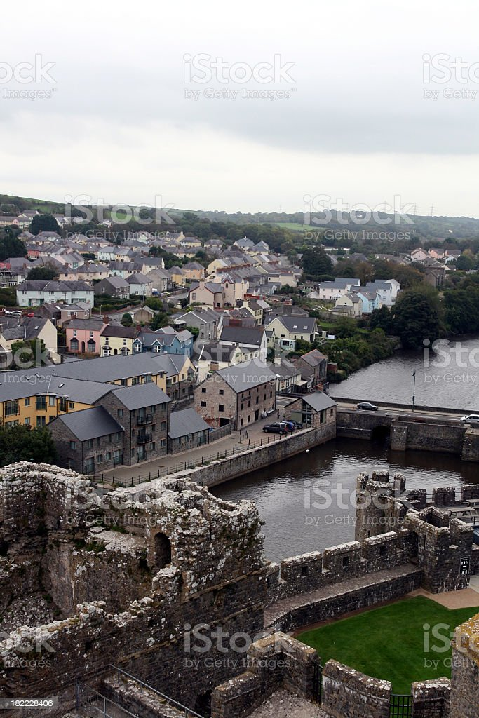 castle view over the town royalty-free stock photo