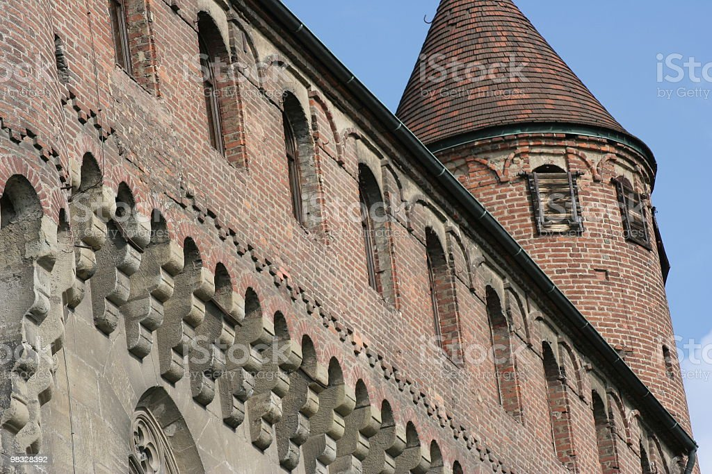 Castle wall and tower royalty-free stock photo