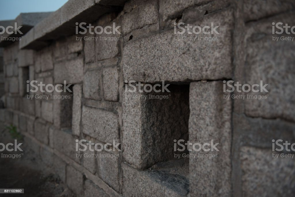 Castle wall stock photo