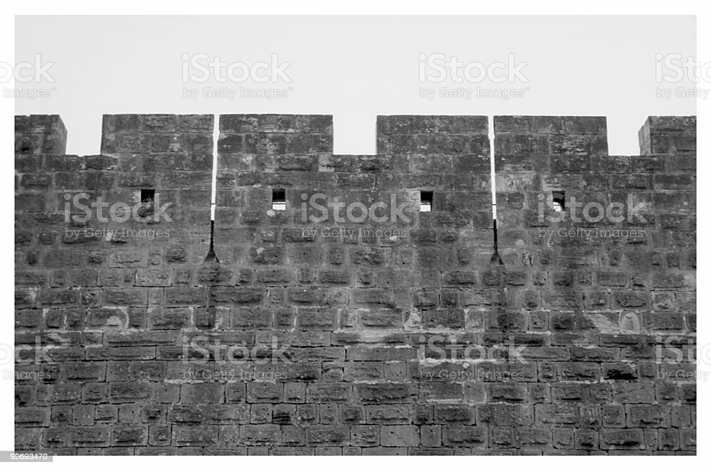 Castle Wall royalty-free stock photo