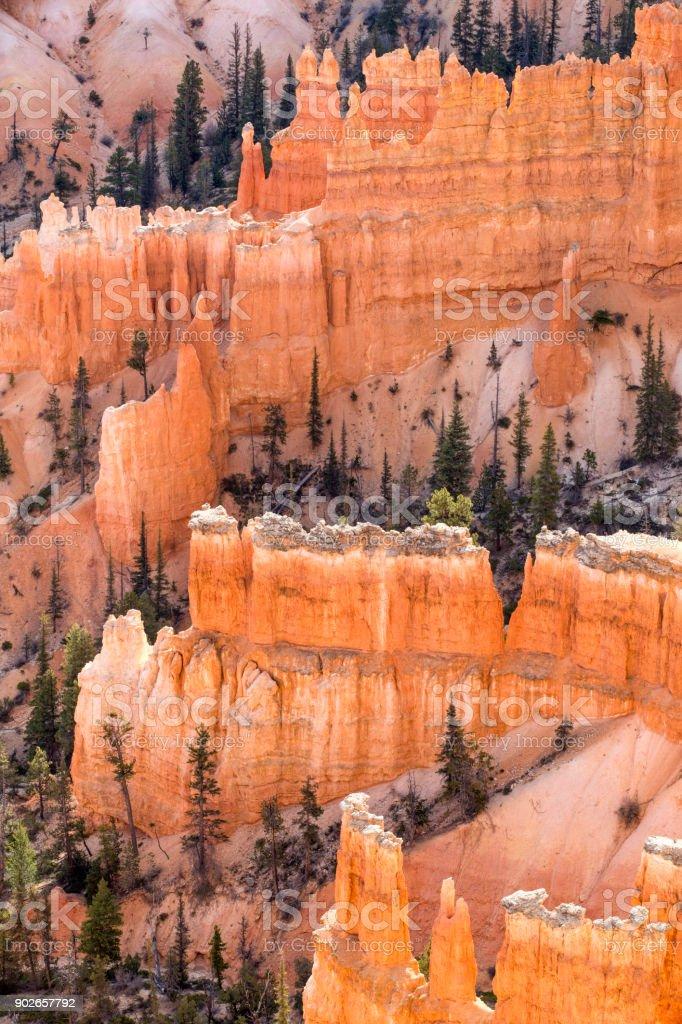 Castle Walls At Bryce Canyon stock photo
