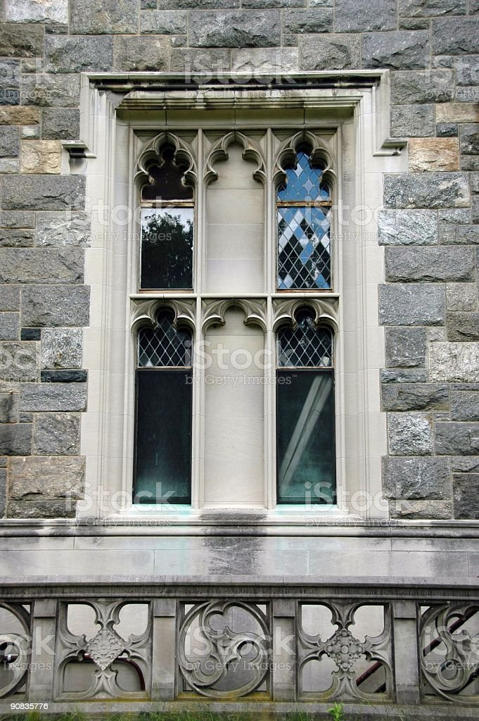 Castle window of antique design stock photo