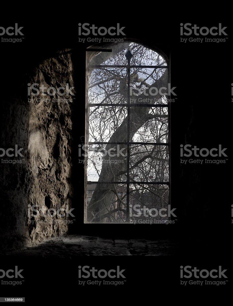castle window stock photo