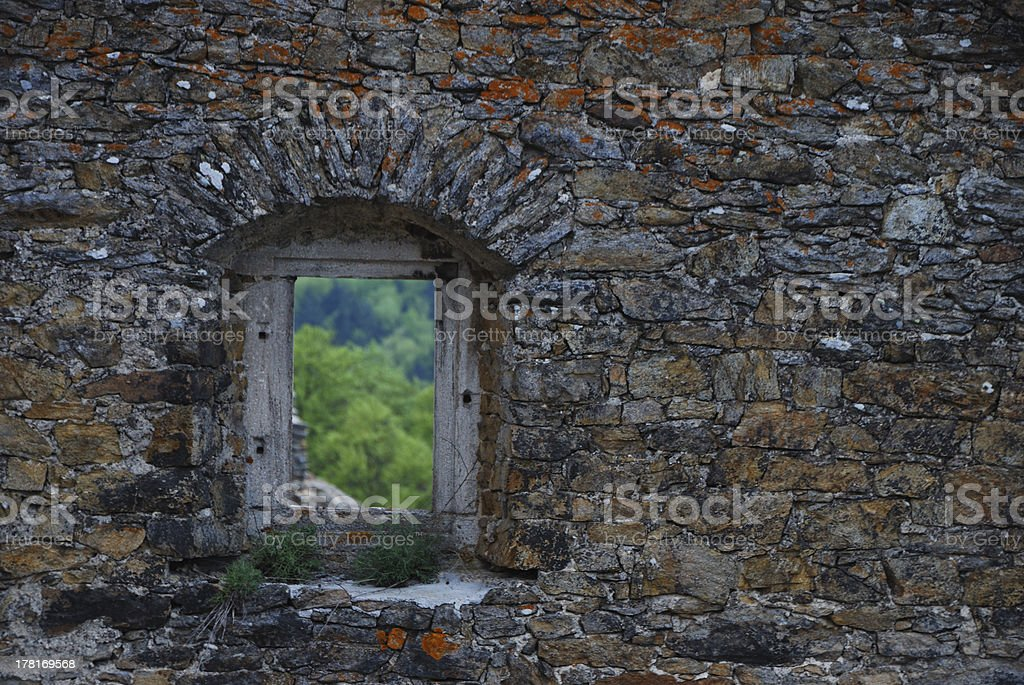 castle window royalty-free stock photo
