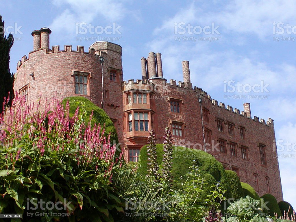 Castle with flowers royalty-free stock photo