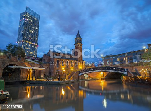 Castlefield  at Deansgate on the Bridgewater Canal in Manchester.
