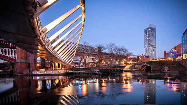 Castlefield Manchester UK Castlefield is an inner city conservation area of Manchester in North West England. The conservation area which bears its name is bounded by the River Irwell, Quay Street, Deansgate and the Chester Road. northwest england stock pictures, royalty-free photos & images