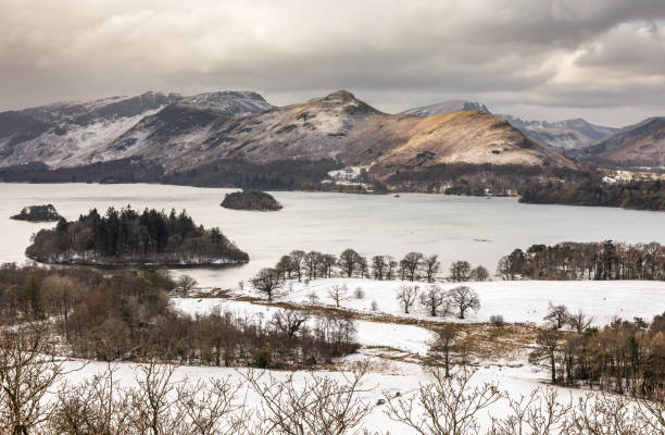 Castlehead Viewpoint - Derwentwater stock photo