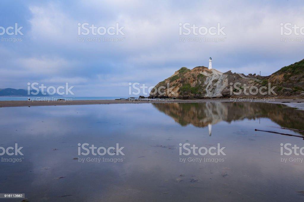 Castlepoint Lighthouse. stock photo