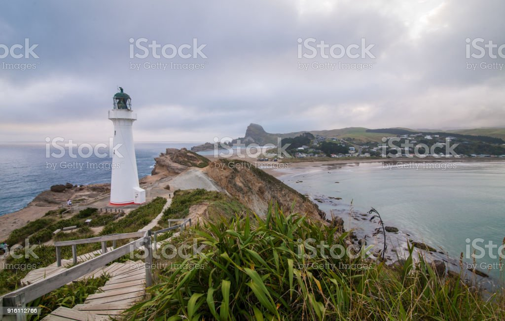 Castlepoint Lighthouse view from top. stock photo