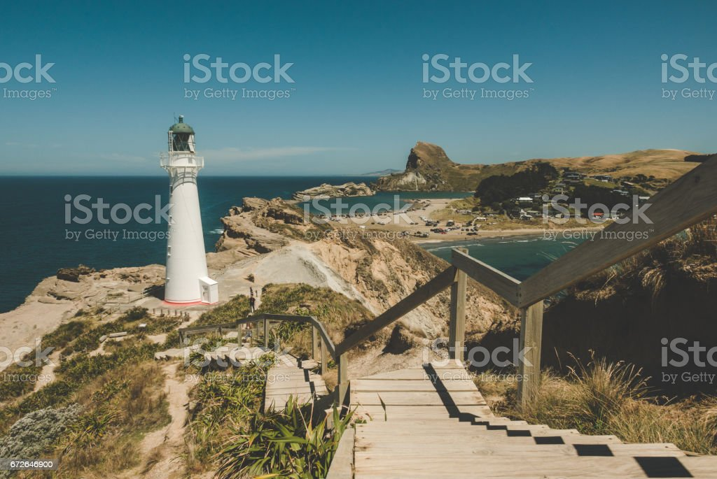 Castlepoint New Zealand stock photo