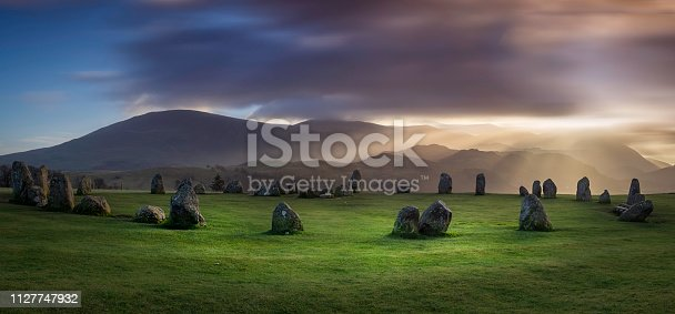 Castlerigg Stone Circle near Keswick in the English Lake District.