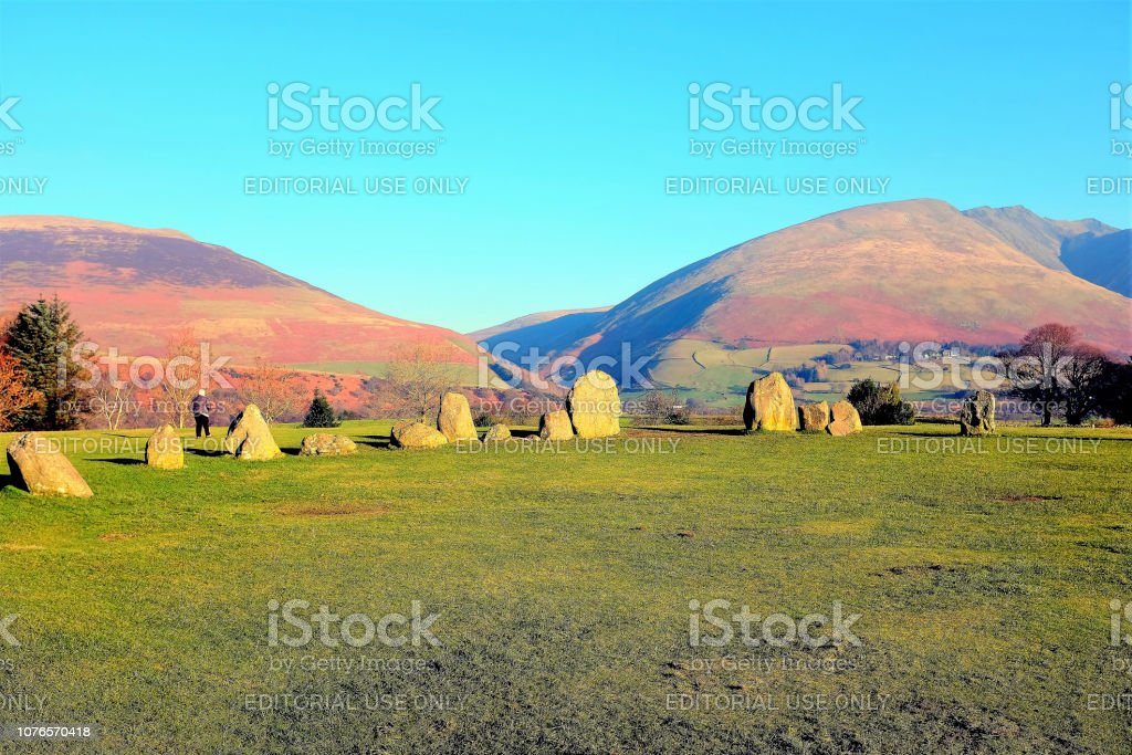 Castlerigg stone circle, Cumbria. stock photo