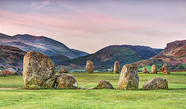 Castlerigg stone circle ,Lake District,England stock photo