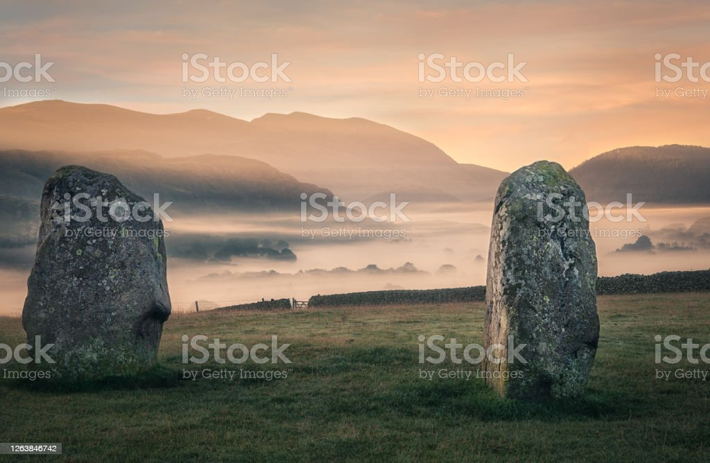 Castlerigg Stones The standing stones of Castlerigg in the English Lake District Castlerigg Stone Circle Stock Photo