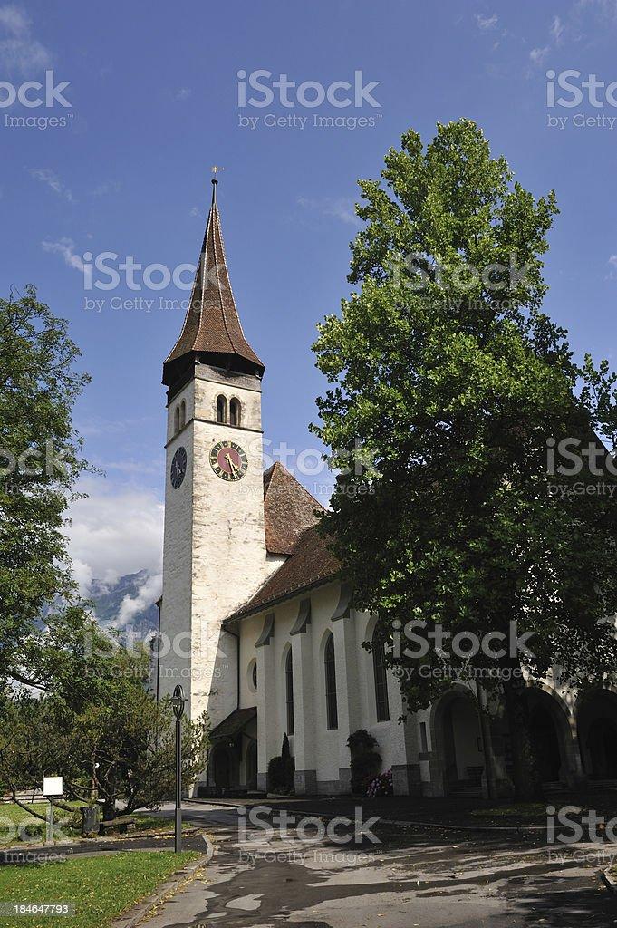 Castle's Church in Interlaken royalty-free stock photo