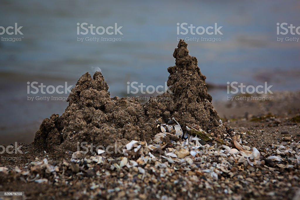 Castles in the Sand stock photo