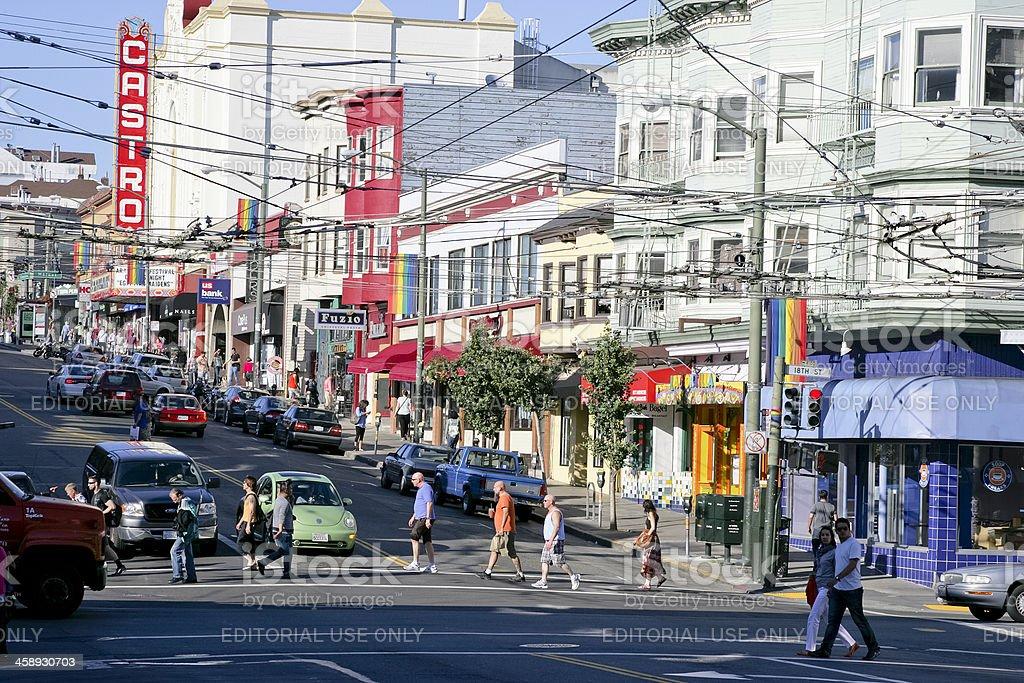 Castro Street in San Francisco stock photo