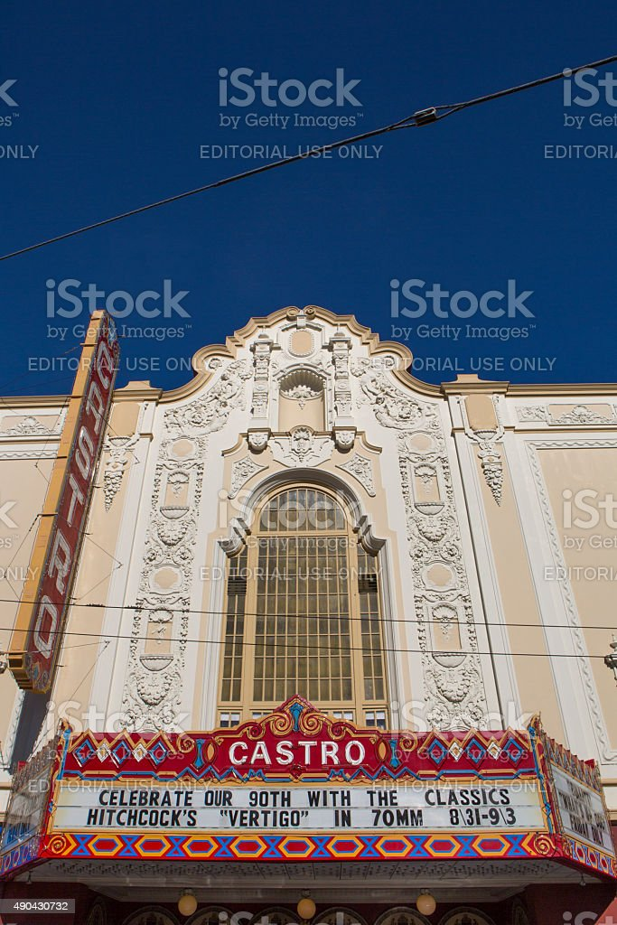 Castro Theater in San Francisco stock photo