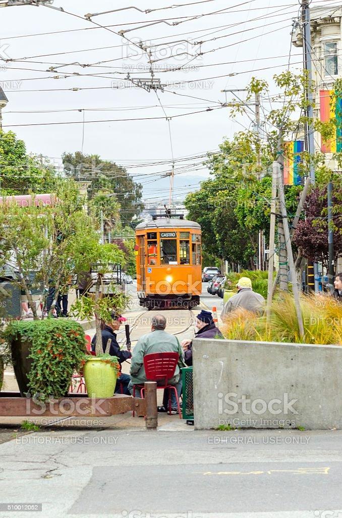 Castro Trolley, San Francisco stock photo