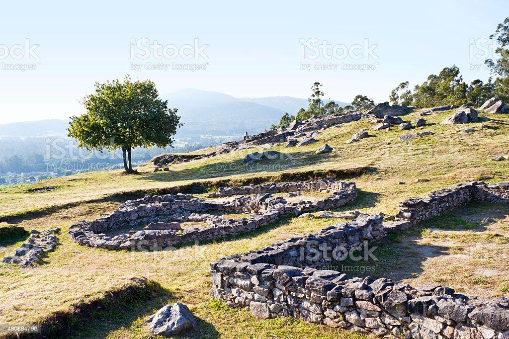 Castrolandin, celtic ruins royalty-free stock photo