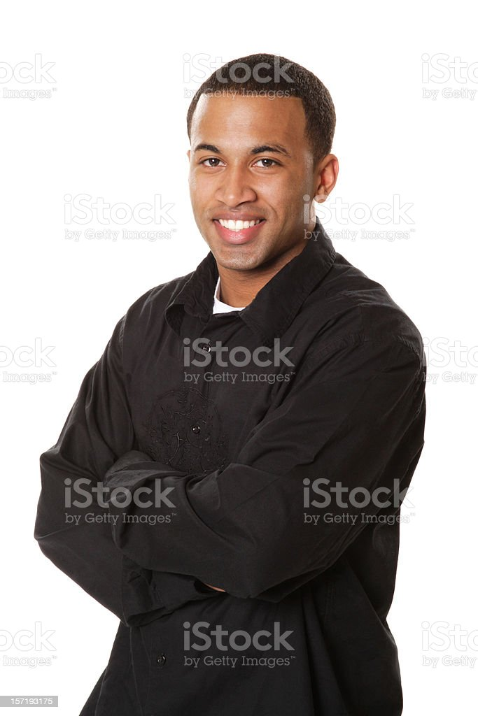 Casual African American Male in Black royalty-free stock photo