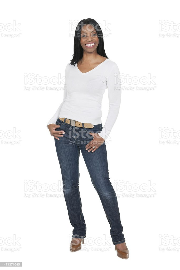 Casual African Woman royalty-free stock photo