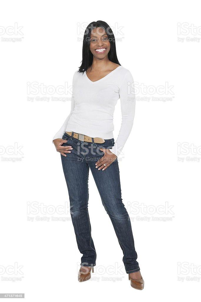 Повседневные Африканская женщина стоковое фото