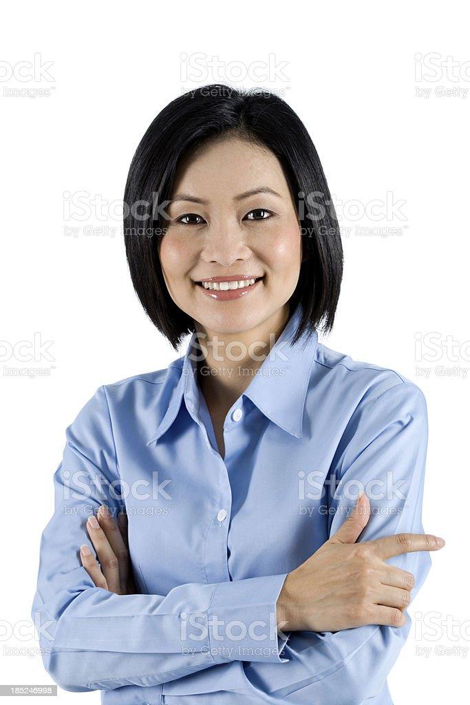 Casual Asian Businesswoman stock photo