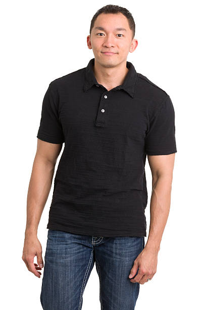 Casual Asian Man Standing stock photo