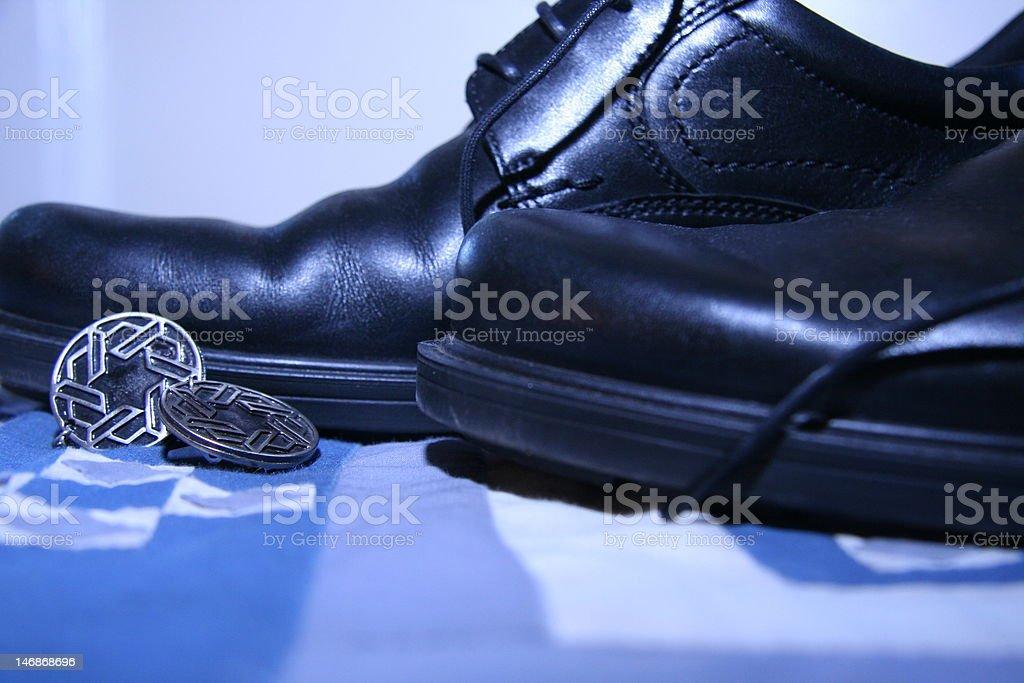 casual Bat Mitzvah shoes stock photo