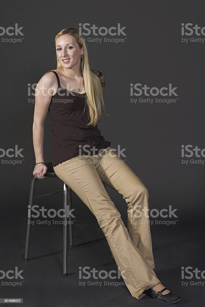 Casual blonde woman royalty-free stock photo