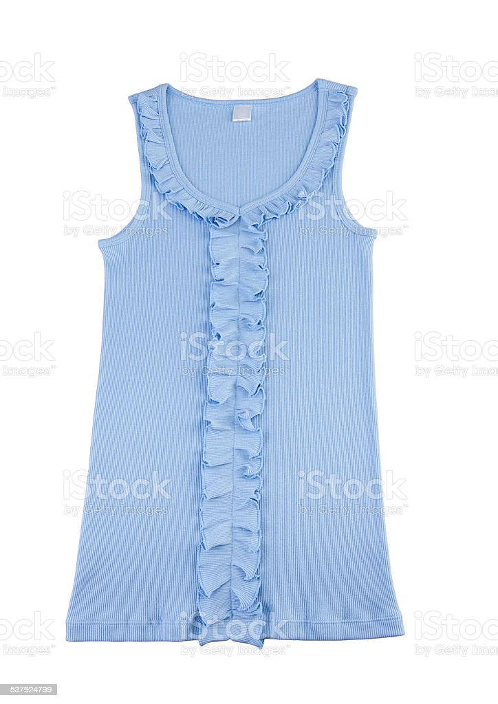Casual blue singlet stock photo
