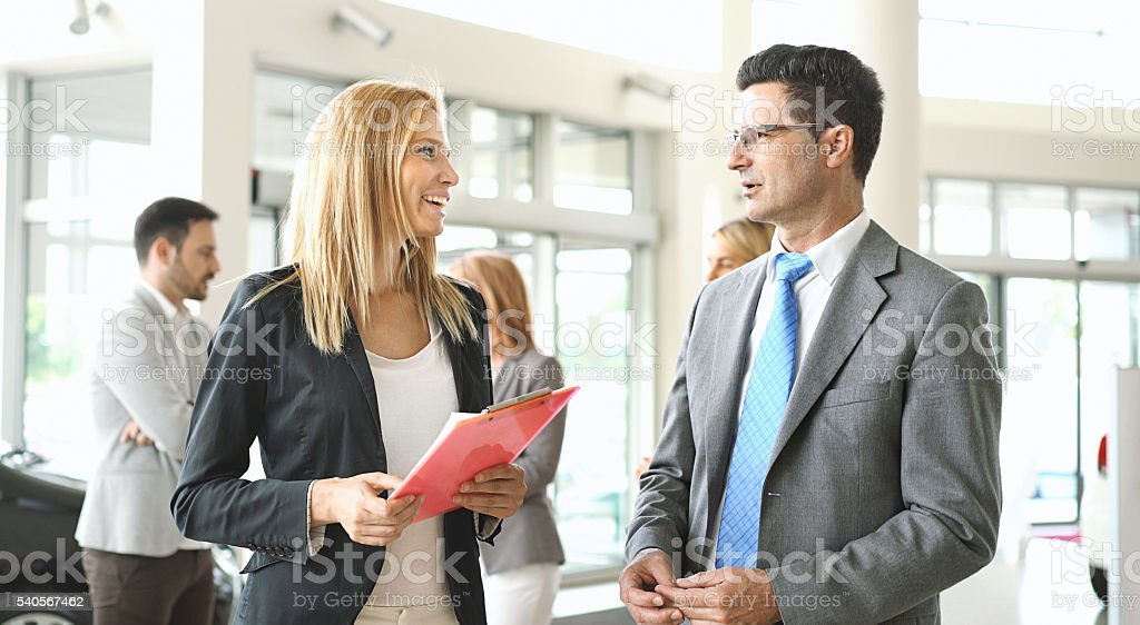 Casual business conversation. stock photo