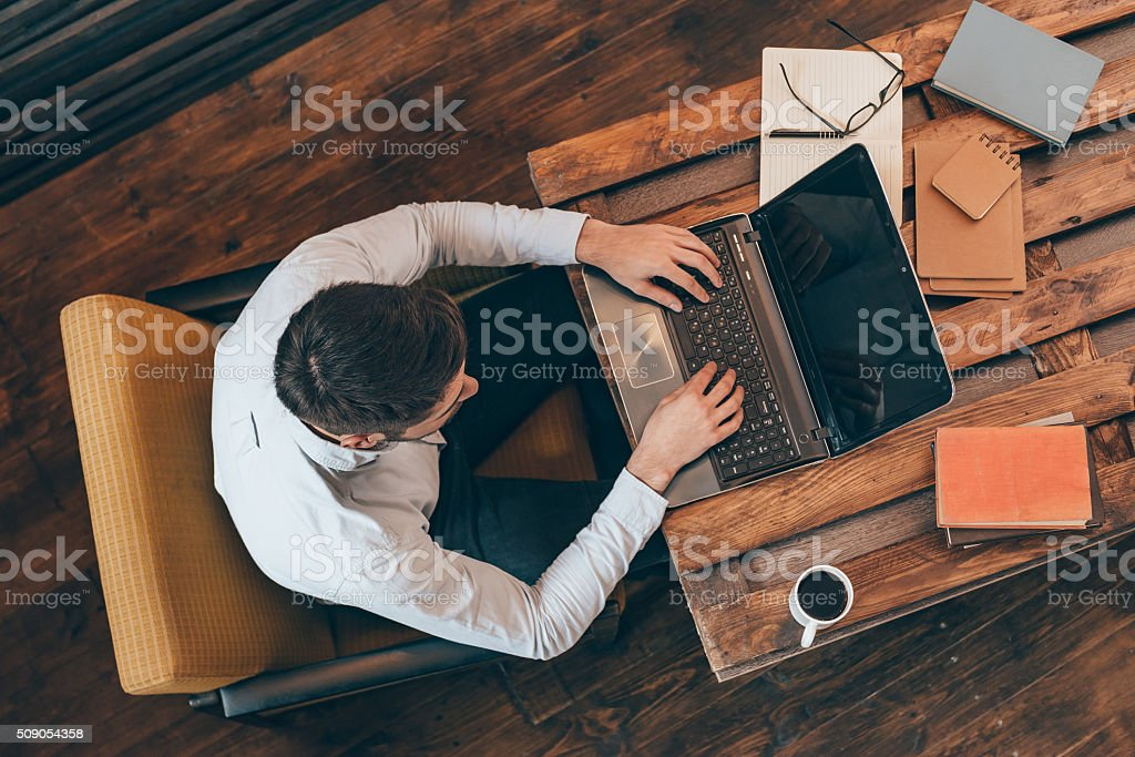 Casual business day. stock photo