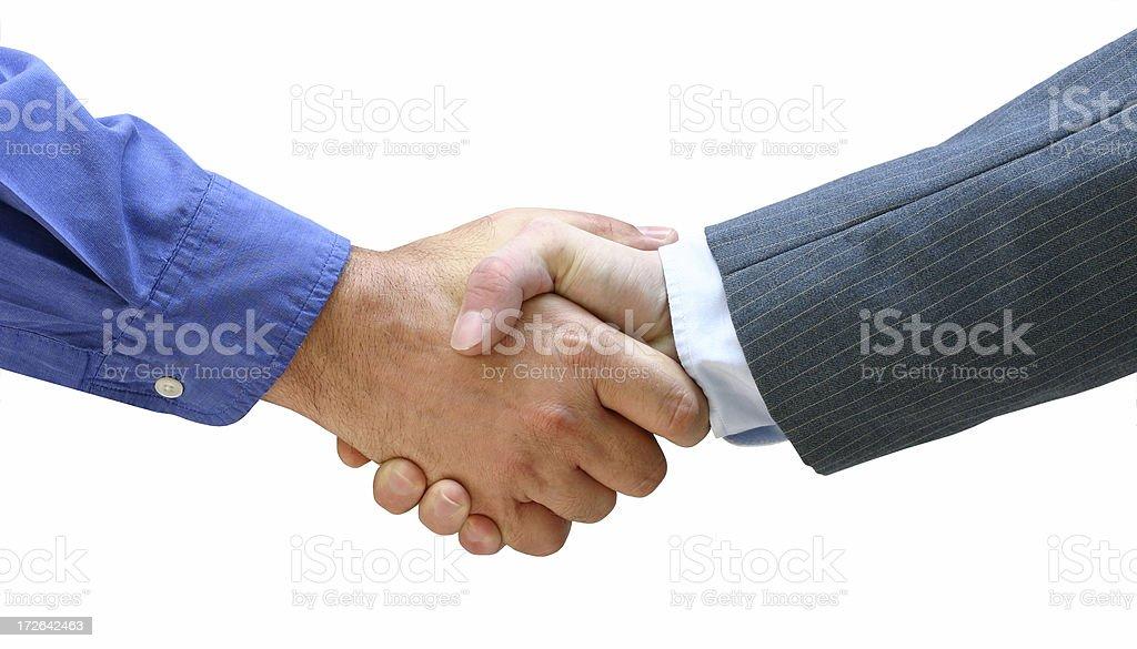 Casual Business Handshake royalty-free stock photo