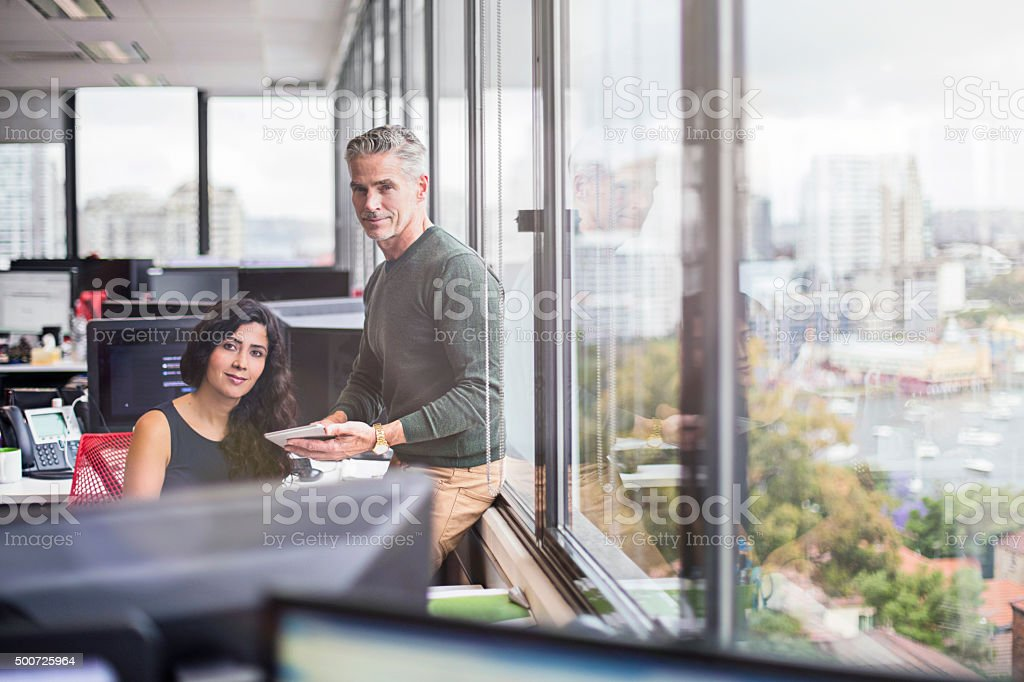 Casual business people in the office stock photo