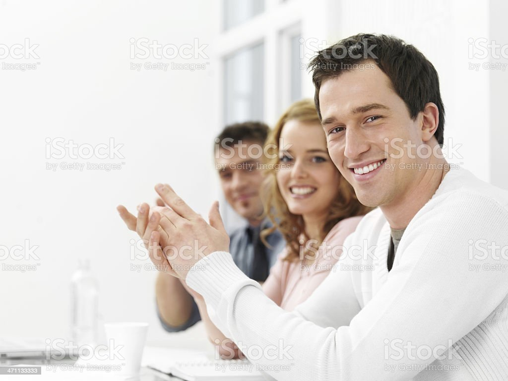Casual business royalty-free stock photo