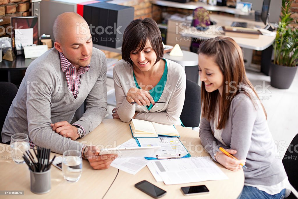 Casual Business Team On Meeting royalty-free stock photo