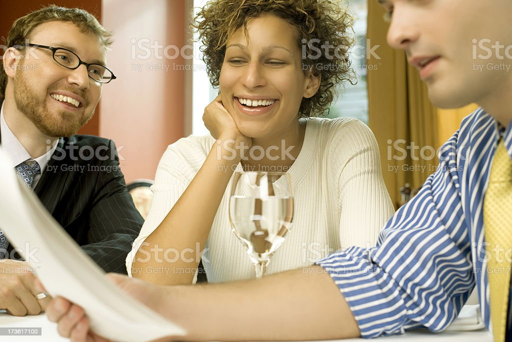 Casual Businesslunch royalty-free stock photo