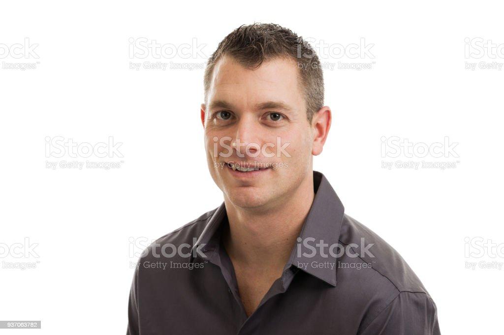 Casual Businessman Headshot stock photo