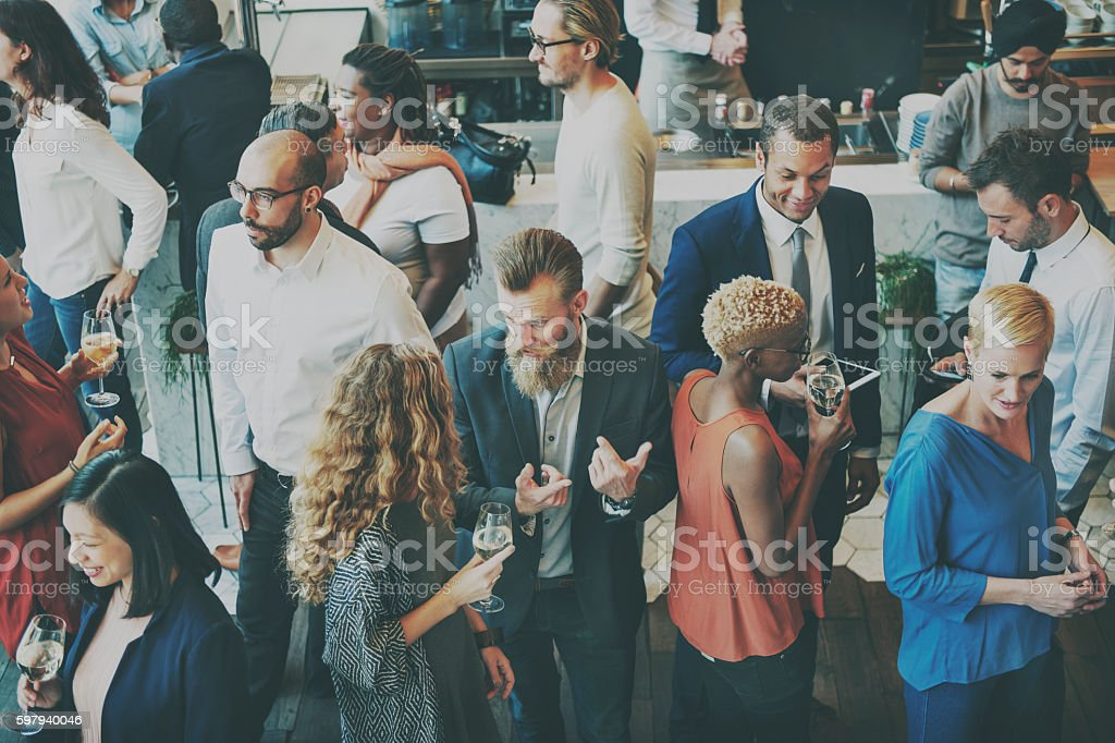 Casual Catering Discussion Meeting Colleagues Concept - foto stock