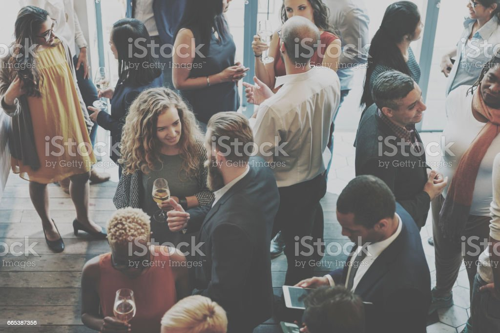 Casual Catering Discussion Meeting Colleagues Concept stock photo