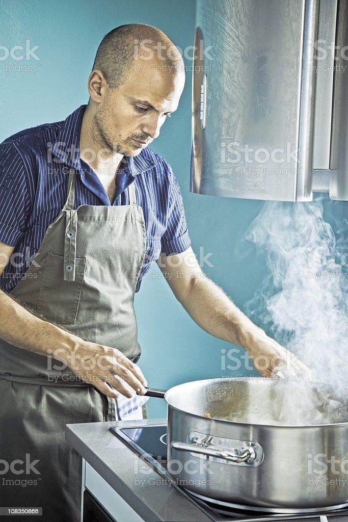 Casual chef stock photo