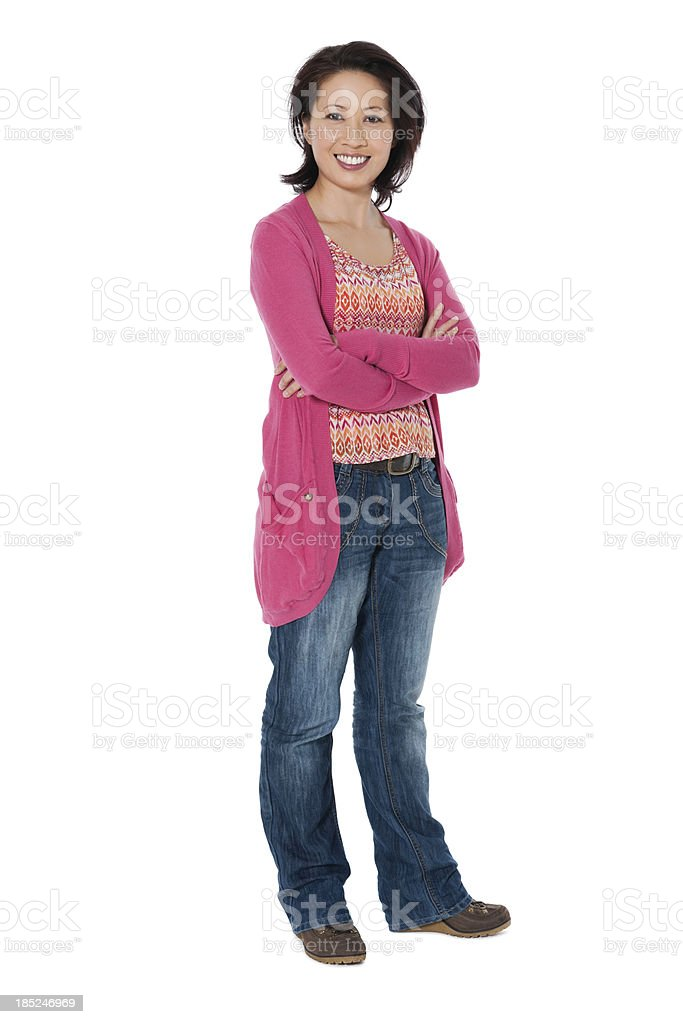 Casual Chinese Woman royalty-free stock photo