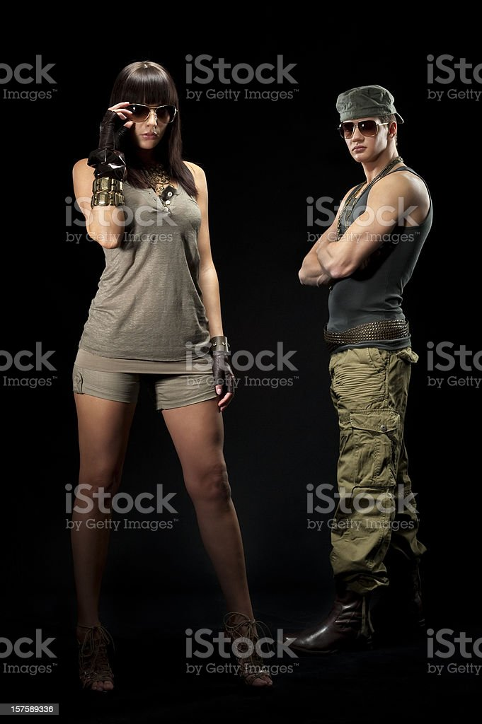 Casual clothes and ghetto style fashion royalty-free stock photo